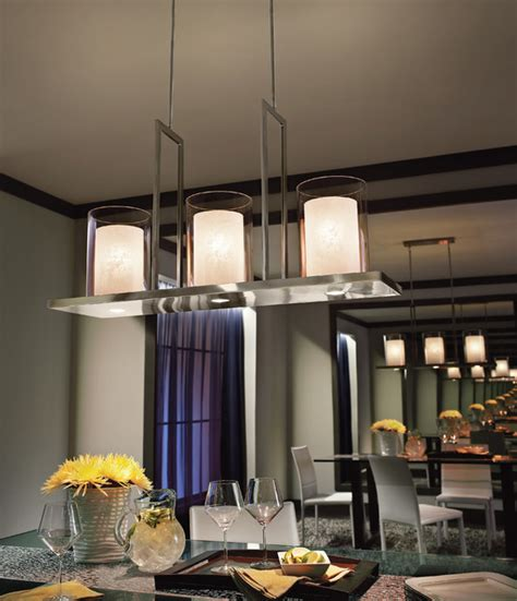 Kichler Lighting 42548CLP Triad Classic Pewter Island Light Contemporary Dining Room