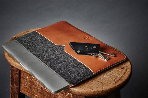 Handmade Laptop Sleeve - slim fit laptop sleeve cover handmade leather laptop