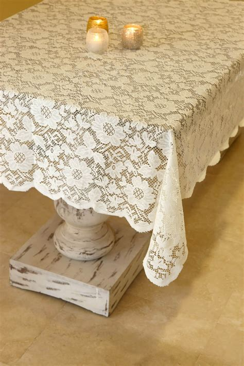 Square Table Cloth Tablecloth Lace Square Ivory 54in