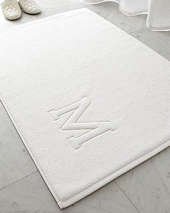 monogrammed bath rug auberge bath mat quot e quot the house shop