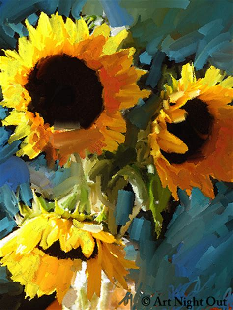 paint nite portland maine out in south portland paint sunflowers step by