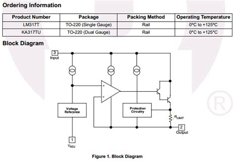 transistor lm317 datasheet lm317 datasheet pdf positive voltage regulator fairchild