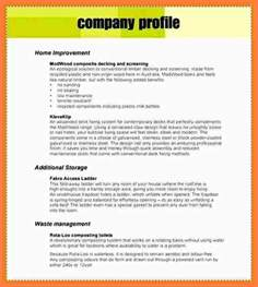 Construction Company Introduction Letter Sle Pdf 3 Sle Company Profile Template Pdf Company Letterhead