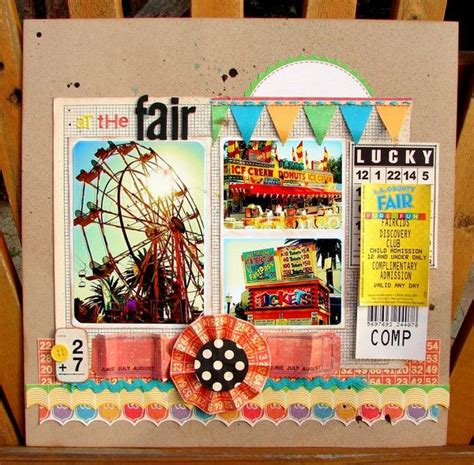 scrapbook layout ferris wheel 157 best images about scrapbook layouts state fair