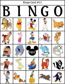 Free printable disney bingo cards