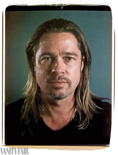 Brad Pitt Vanity Fair by Johansson With No Makeup In Vanity Fair