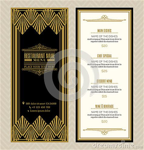 deco menu template 1000 images about black and on