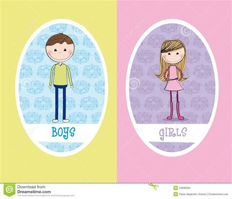 boy and girl bathroom signs girls and boys sign stock illustration illustration of