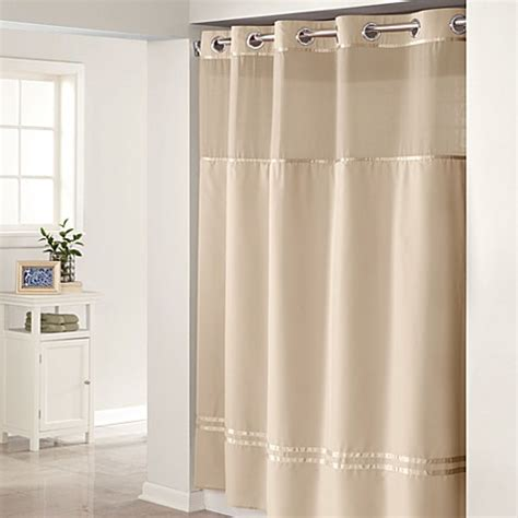 hookless shower curtain liners hookless 174 escape 71 inch x 74 inch fabric shower curtain