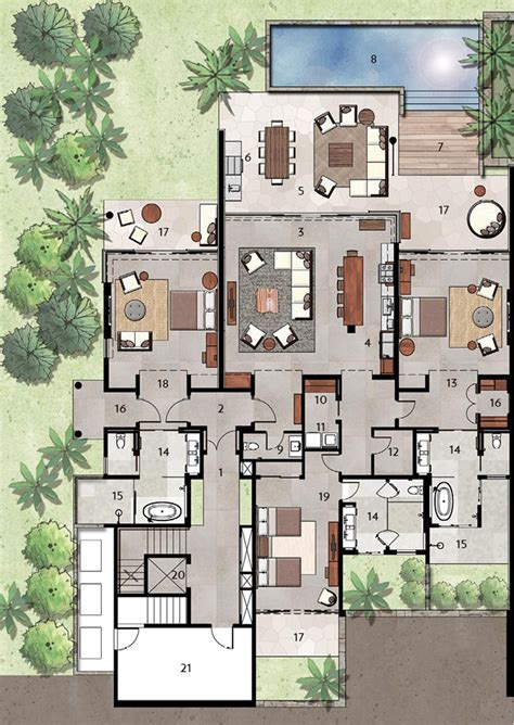 villa plan luxury villas floor plans modern house