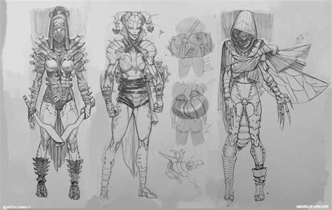 D Sketches by D Vorah Mortal Kombat X