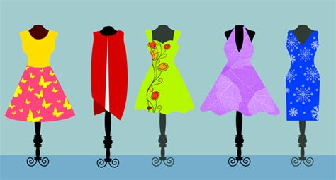 clothes vector design free download vector fashion illustration of womans dress on hanger free