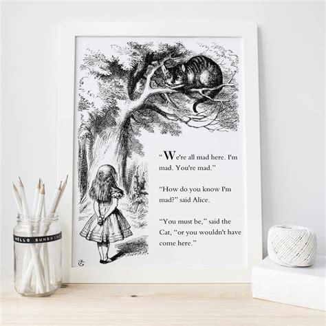 alice in wonderland print by literary emporium