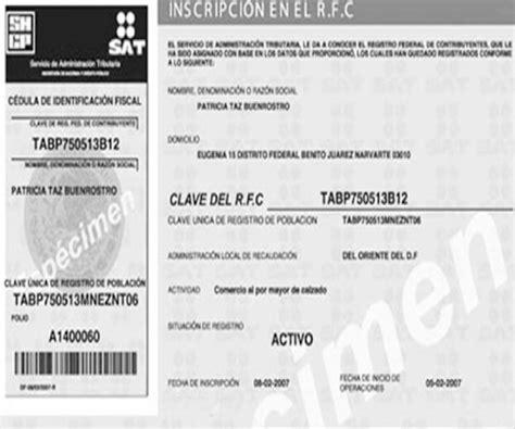 rfc registro federal de contribuyentes y newhairstylesformen2014 com image gallery rfc