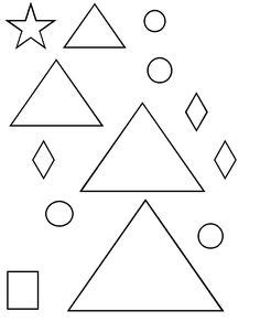 triangle template for christmas tree tree template with shapes square triangle and then color and decorate