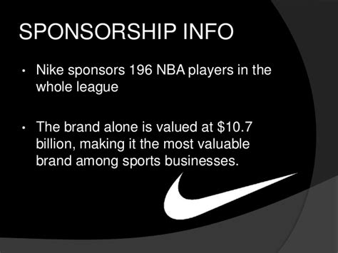 Sponsorship Letter Nike Nike Design Manufacturing And Sponsorship Project