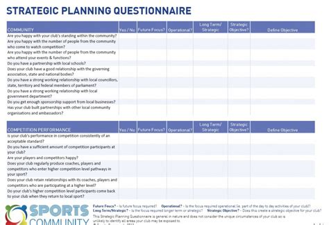 strategic planning template doliquid