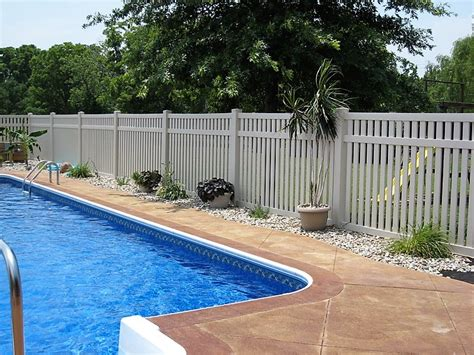 bel air semi privacy pool fence vinyl fence wholesaler fast shipping