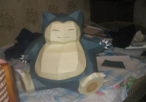 snorlax papercraft by zimberdum on deviantart