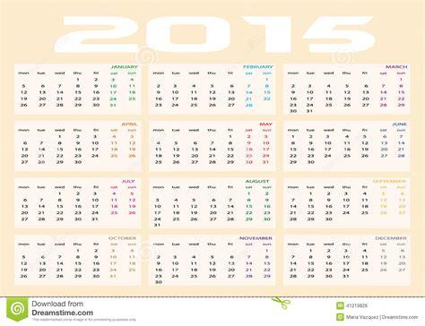 Calendario En Ingles 2015 Calendario 2015 En Ingles Calendar Template 2016