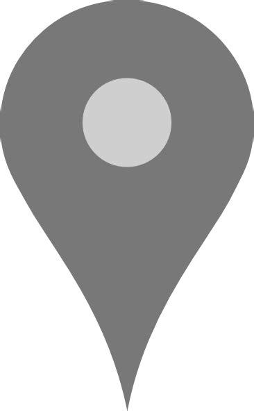 google map pointer grey clip art  clkercom vector