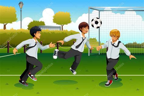 imagenes animadas jugando futbol estudiantes jugando f 250 tbol vector de stock 169 artisticco