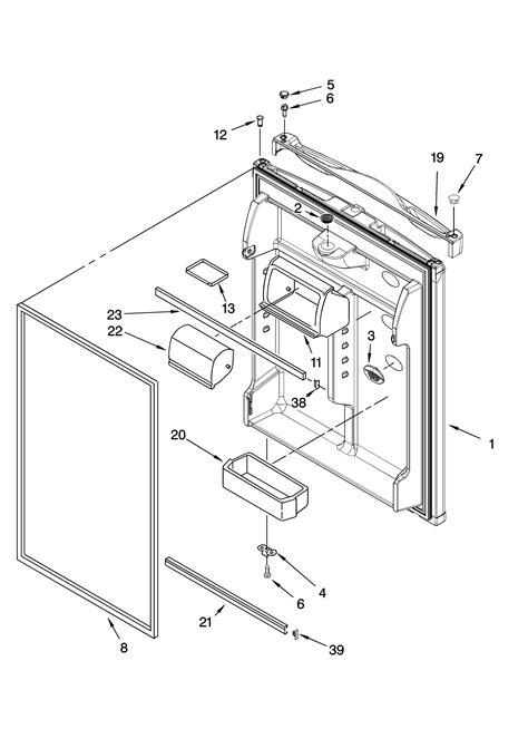 kenmore elite refrigerator parts diagram refrigerator door parts diagram parts list for model