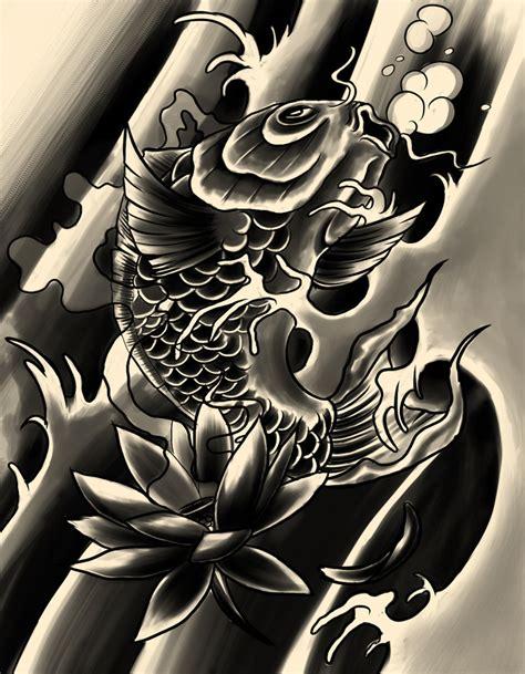 black and white koi wallpaper black koi by xfreakcorex on deviantart