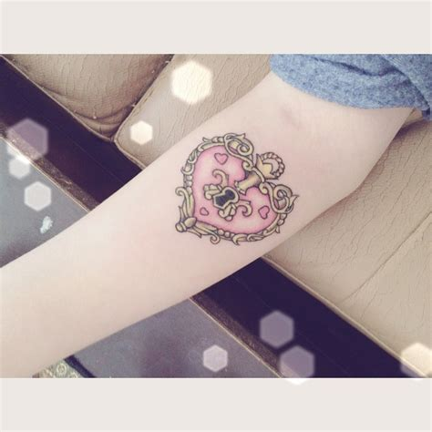 heart lock rose tattoo lock arm design tattooshunt