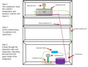 how does a refrigerator work diagram how free engine