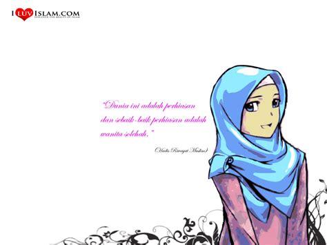 wallpaper muslimah gambar kartun muslimah solehah genuardis portal wallpaper