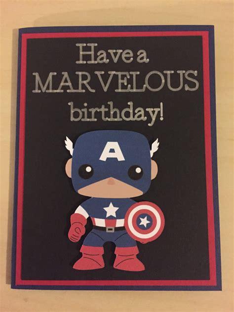 printable birthday cards superhero disney marvel captain america homemade birthday card