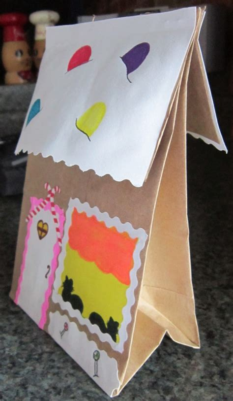 Paper Gingerbread House Craft - gingerbread activities crafts ideas