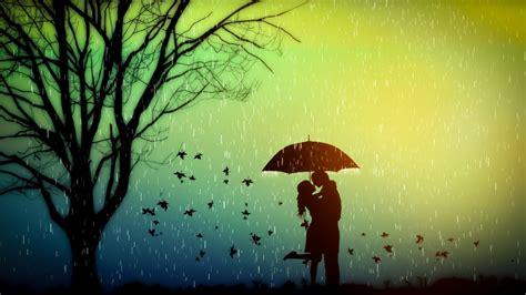 cute rain hd wallpaper lovers romance tree rain wallpapers 1600x900 354766