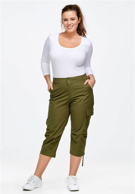 shorts for women 60 plus cargo capris by ellos 174 plus size shorts capris woman