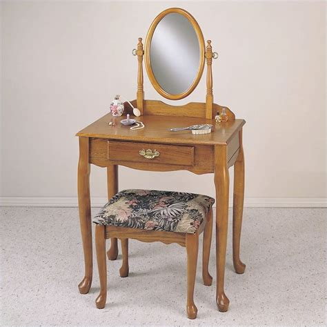 Oak Makeup Vanity Table Object Moved