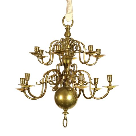 12 light chandelier brass small scale 2 tier 12 light dutch brass chandelier circa