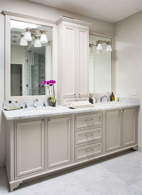 bathroom cabinets with lights light gray bath vanity cabinets transitional bathroom