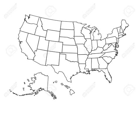 printable map of the united states black and white us map of states with alaska thempfa org