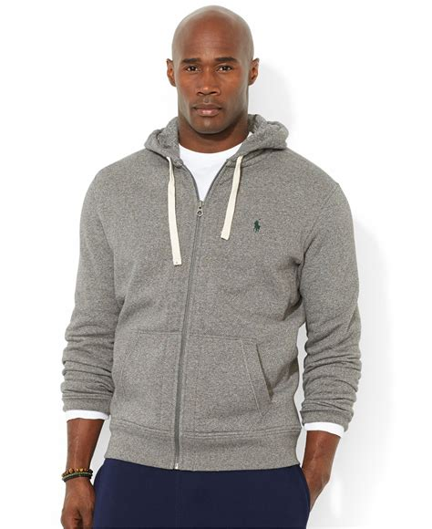 Polos Zip Hoodie polo ralph big and classic fleece zip hoodie in brown for lyst