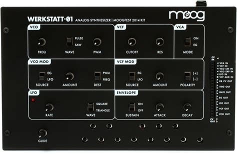 moog werkstatt 01 analog synthesizer kit sweetwater