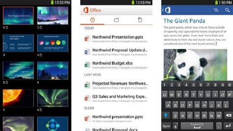 office android microsoft brings word excel and powerpoint to android with office mobile 365