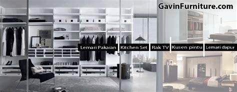 Lemari Pakaian Tempel lemari pakaian rak tv kitchen set kontraktor renovasi