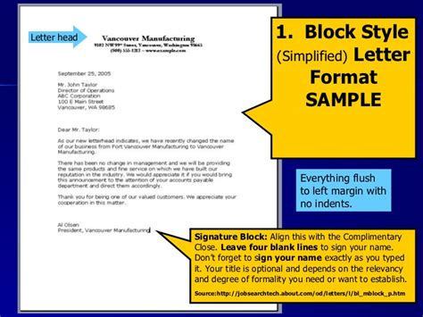 Block Style Business Letter Of Complaint letter writing