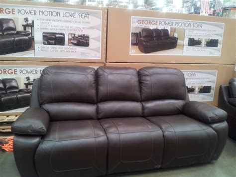 costco couches in store synergy george leather power motion sofa