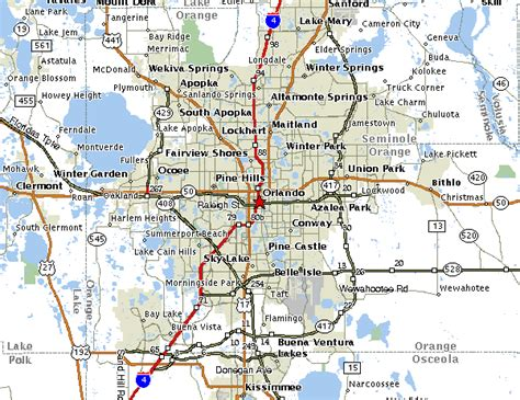 orlando florida map maps of orlando