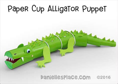How To Make A Paper Crocodile - alligator and crocodile crafts and learning activities for