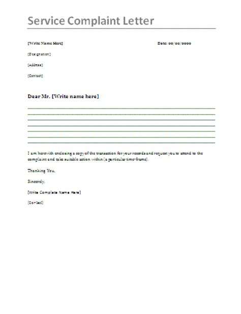 How To Write Complaint Letter Customer Service service complaint letter sle complaint letter for