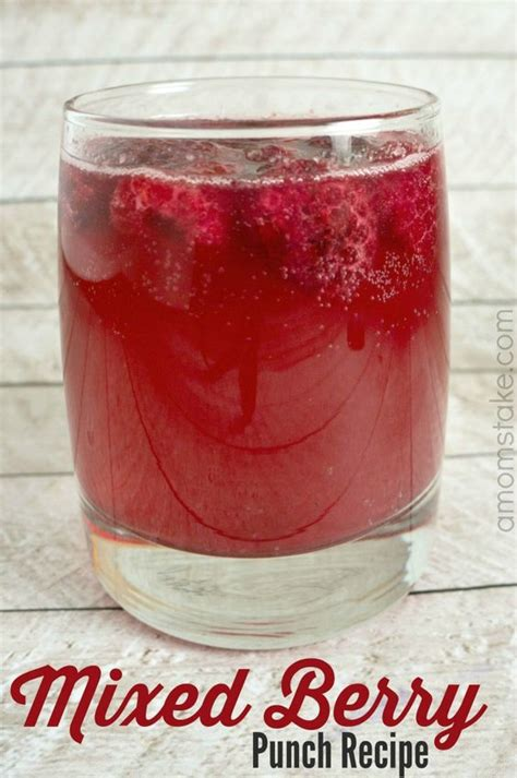 valentines punch mixed berries punch and punch recipes on