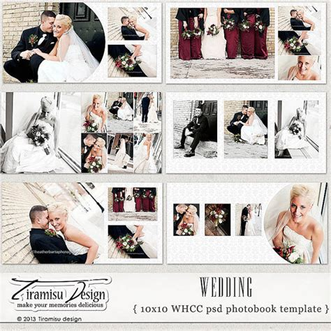 10x10 wedding album templates wedding photobook photoshop psd